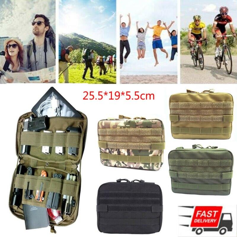 Тактическая Сумка Molle, большой нейлоновый органайзер для журналов, практичная сумка на пояс для телефона, сумка для путешествий