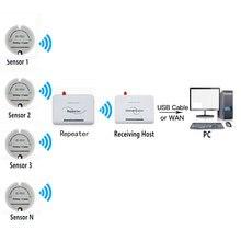 الذكية اللاسلكية مستشعر درجة الحرارة والرطوبة الارسال 433 mhz RF طويلة المدى درجة الحرارة الرطوبة مسجل