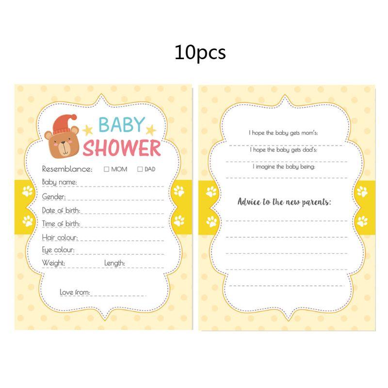 Jeu de fête prénatale 10 pièces | Cartes conseil pour bébé, fournitures de fête