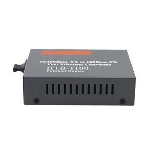 Image 3 - 100 مفايبر محول وسائط بصرية HTB 1100 جيجابت متعدد وضع ألياف مزدوجة SC ميناء الألياف البصرية جهاز الإرسال والاستقبال