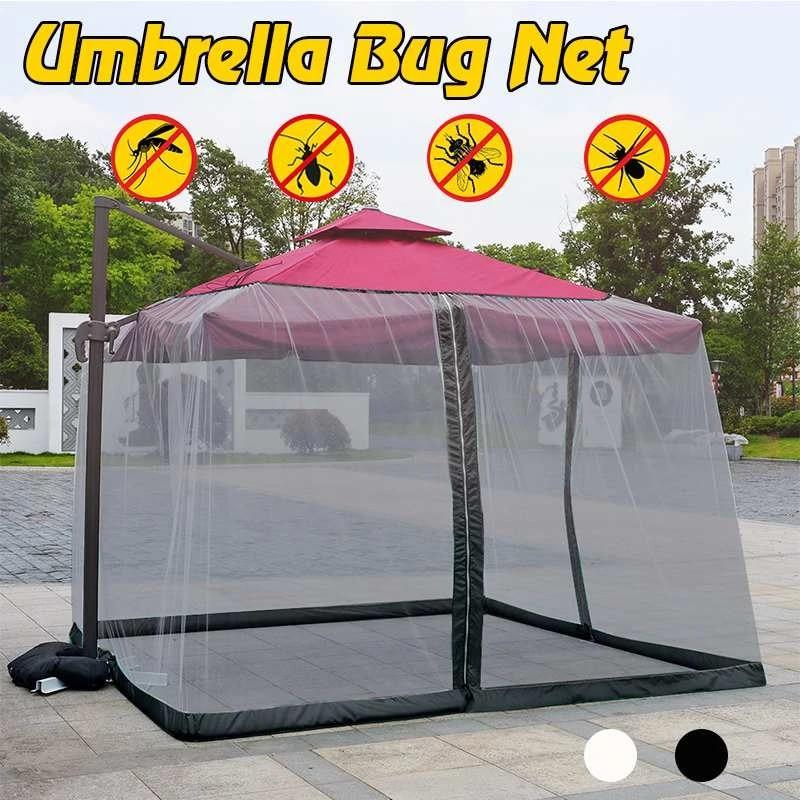 9 10ft mosquito net umbrella screen cover 300x300cm outdoor enclosure bugs mosquitoes patio picnic net cover