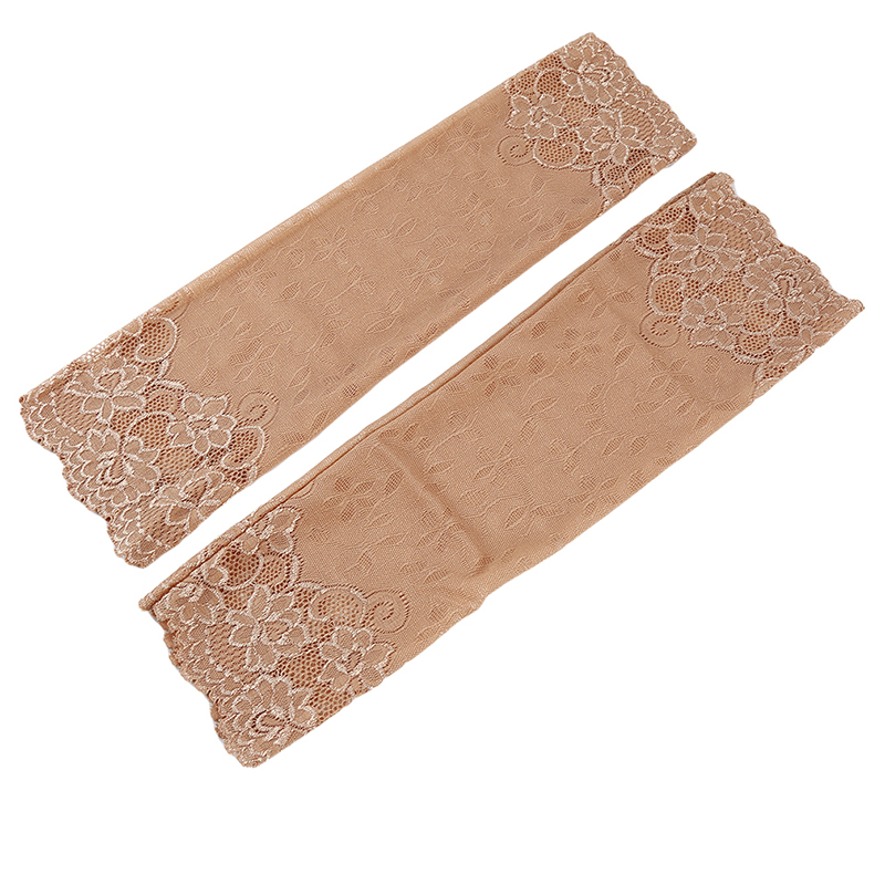 Spring Autumn Arm Warmers For Women Hand Warmer Skin Lace Cuff Cotton Fingerless Long Gloves Lace Arm Sleeve Arm Warmer