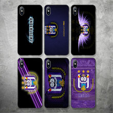 Phone Case FC Royal Sporting Club Anderlecht For iPhone XR 11 Pro XS Max X 5 5S DIY Black Soft Case For iphone SE 7 8 6S 7Plus(China)