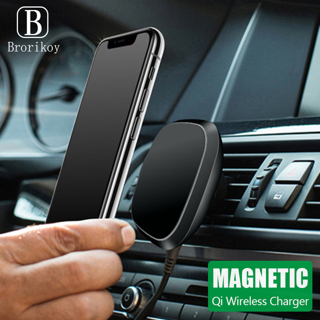 360 Rotate Magnetic Qi Car Wireless Charger Stand Dashboard Air Vent Bracket For IPhone 11 Pro X XR XS Max Samsung S9 S8 S10 S20