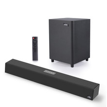 100W TV SoundBar 2,1 Bluetooth Lautsprecher 5,0 Heimkino Sound System 3D Surround 80 dB Sound Bar Fernbedienung mit Subwoofer