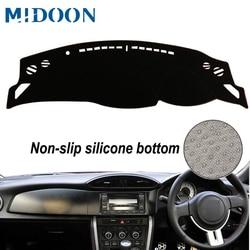 MIDOON dla Toyota FT86 GT86 Scion FR-S Subaru BRZ 2012 pokrowce do stylizacji samochodu Dashmat mata na deskę rozdzielczą parasol przeciwsłoneczny pokrywa deski rozdzielczej kapitan