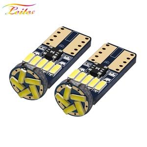 Image 1 - 600PCS T10 W5W Canbusหลอดไฟ194 LED 4014 SMD 15หลอดไฟLEDสีขาวข้อผิดพลาดฟรีรถอัตโนมัติWedgeภายในแสงโดม12V