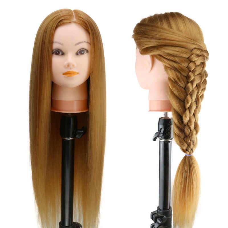 Cabeça de manequim para a prática cabeça de trança para cabeleireiro cabeça de manequim com cabeça de treinamento de cabelo manequim penteados