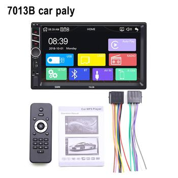 Car Multimedia Player 7 Inch 2 Din Touch Screen Stereo FM Radio Bluetooth Mp5 Player Supports For Android /IOS Image Connection