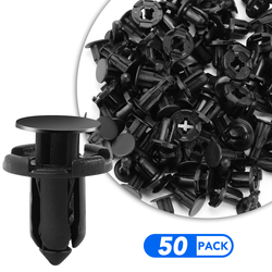 50 шт./компл. 8 мм заклепки фиксатор пластиковые детали крепления зажим для автомобиля Автомобильный бампер, крыло нажимного типа фиксаторы д...