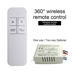 QIACHIP 2 Way AC 220V Digital RF Wireless Remote Control Switch For LED Light Lamp Bulb ON/OFF Ceiling Fan Panel Control Switch(China)