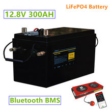 12V 300AH LiFePO4 battery pack with bluetooth BMS 12.8v 300ah lifepo4 battery LiFePO4 battery with 20A Charger solar battery