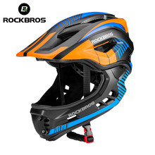 ROCKBROS 2 In 1 Full Covered Child Helmets Bike Bicycle Cycling Animals Children Helmets EPS Sport Safety Hats For Parallel Car