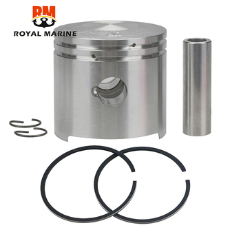 цена на Piston and Piston Ring Set (Std) For TOHATSU 2 stroke Outboard Motor M5 5HP  with Clip and Pin 369-00001-0