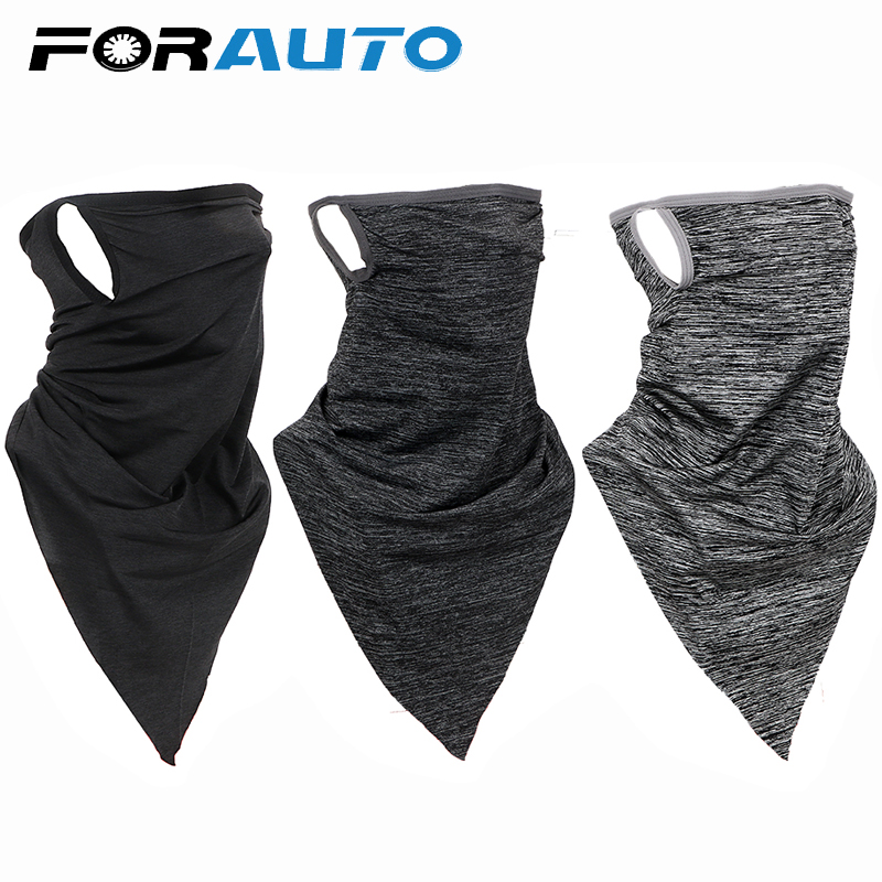 Motorcycle Proctect Cycling Face Mask Anti-UV Neck Hood Half Face Breathable Dustproof Headband Triangle Sport Scarf Windproof