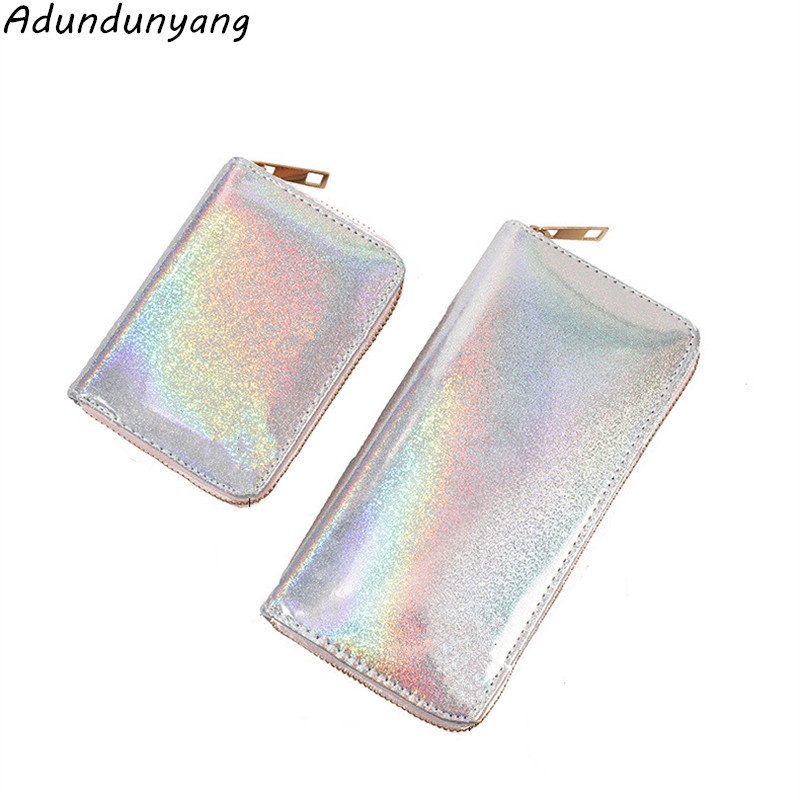 2020 Hot Sale Laser Purse Ladies Long Multifunctional Hand Phone Bag Women Zipper Wallet Coin Card Holder