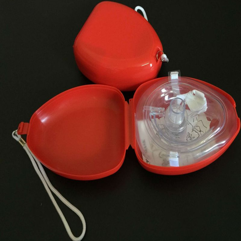 Transparent CPR Resuscitator Rescue First Aid Masks CPR RESPIRATORY MASK Mouth Breath One-way Valve Tools New1