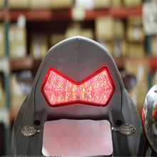 все цены на Z 1000 Motorcycle For Kawasaki Z 1000 2003 2004 2005 Z750S 2003 2004 Z 750S motorcycle smoke LED tail light LED brake light онлайн