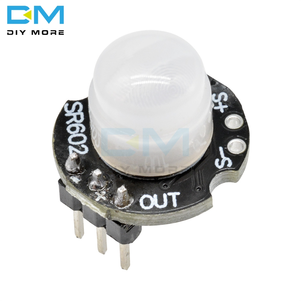 MH-<font><b>SR602</b></font> MINI Motion Sensor Detector Module 3PIN <font><b>SR602</b></font> Pyroelectric Infrared PIR kit sensory switch Bracket For Arduino 3pin image