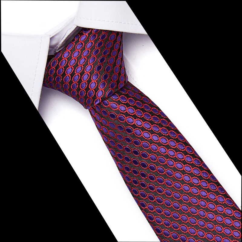 Classic Polyester Woven Party Neckties New Fashion Tie Wedding Business Male 7.5CM Tie Men's Casual 100% Silk Ties 10061