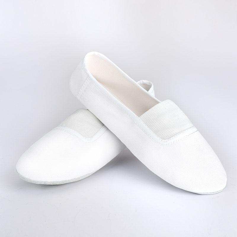 USHINE EU22 45 Indoor Update White Body Shaping Flat Yoga Teacher Fitness Gymnastics Ballet Dance Shoes For Children Woman Man