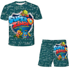 New design Children super zings Clothing Sets 2021 Spring summer Girls Clothes short Sleeve t-shirts+shorts Suits Boys Clothes
