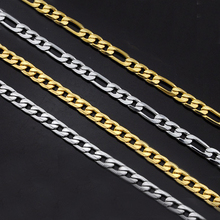 figaro мужское ожерелье из нержавеющей стали, персонализированная Золотая цепочка, Длинные мужские ожерелья, мужские чокер, хип-хоп ювелирные изделия erkek kolye