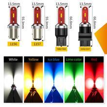 1pcs 1156 LED Signal Lamp P21W LED BA15S 1156 T20 7440 W21/5W P21/5W 1157 BAY15D LED Car Light Bulb 7443 WY21W W21W Auto