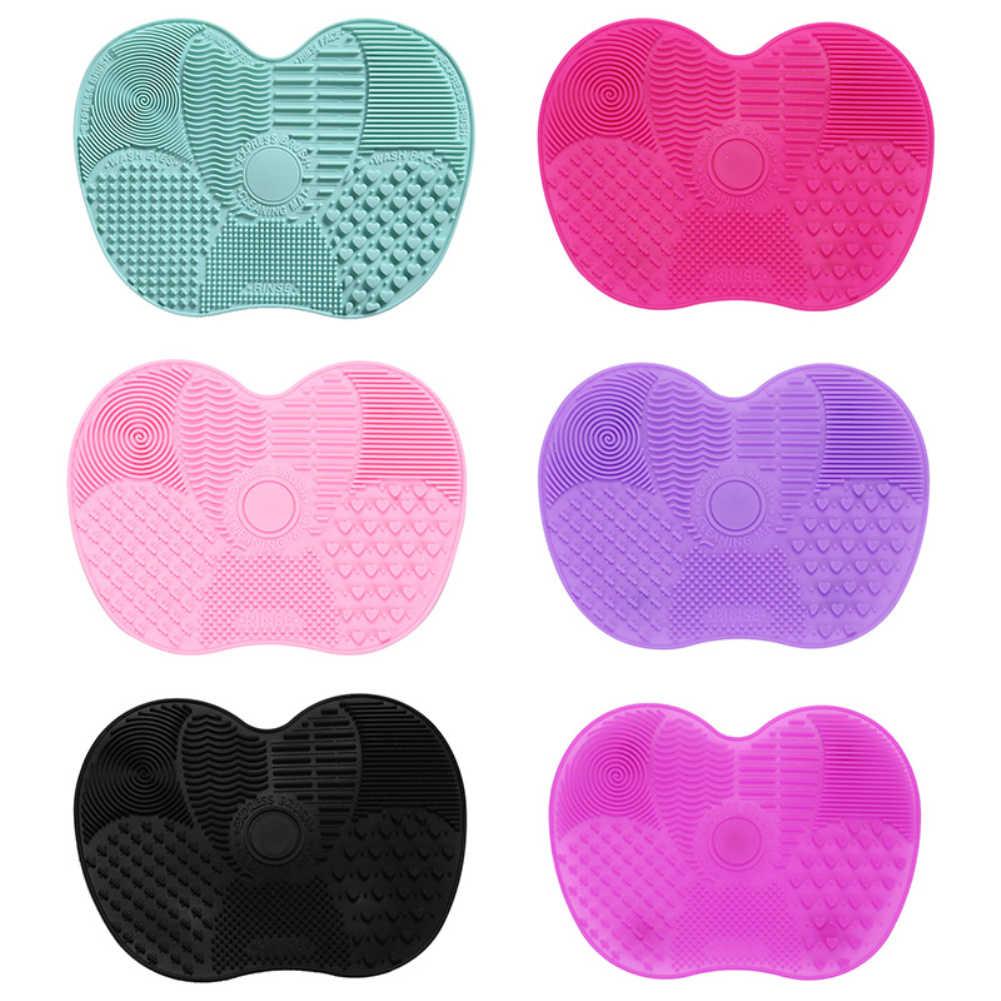 基礎化粧ブラシスクラバーボードシリコーン化粧ブラシクリーナーパッドメイクアップ洗濯ブラシゲルクリーニングマットハンドツール
