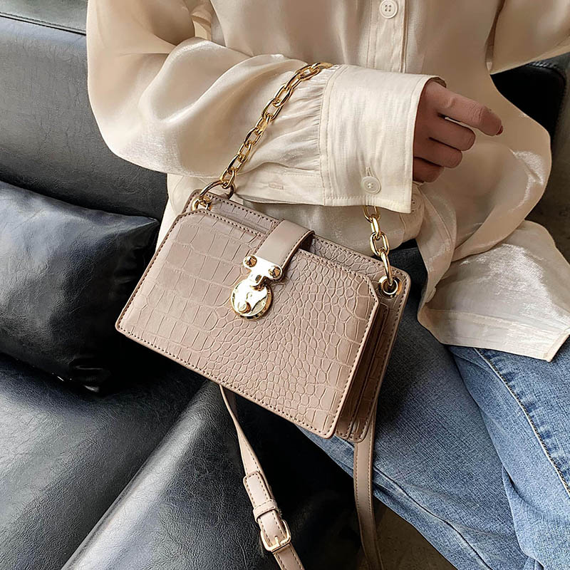 Stone Pattern PU Leather Crossbody Bags For Women 2020 Lady Shoulder Messenger Bag Female Handbag Chain Hand Bag