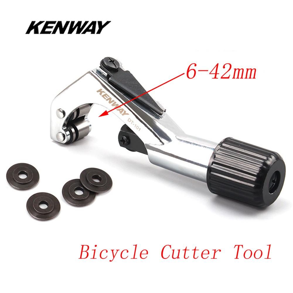 KENWAY 6-42mm Aluminum Fork Cutter Tool MTB Road Bike Head Tube Pipe Handlebar Seat Post Cutter With Blade Bike Repair Tools