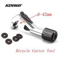 Kenway 6 42mm garfo de alumínio ferramenta cortador mtb estrada bicicleta cabeça tubo guiador espigão cortador com lâmina ferramentas de reparo da bicicleta|Ferramentas p/ reparo de bicicletas| |  -