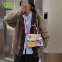 Goplus женская верхняя сумка с принтом кожаная цепочками через