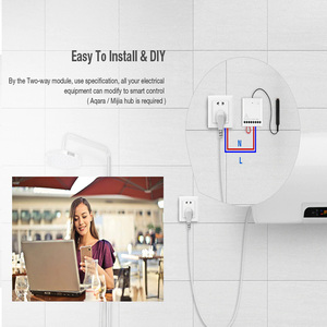 Image 3 - Aqara חכם שני דרך בקרת מודול Zigbee אלחוטי ממסר מרחוק בקר אור מתג לעבוד עם Xiaomi Mi בית HomeKit APP