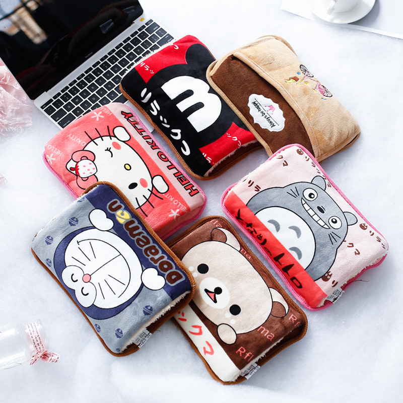 Rechargeable Hand Warmers New Fashion Cartoon Rechargeable Hot Water Bottle Explosion-proof Warm Waist Warm Palace Treasure C178