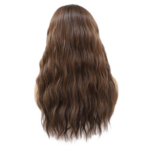 Image 5 - סינטטי תחרה מול פאות Ombre חום שחור צבע טבעי גל ארוך משלוח חלק שיער פאה לנשים שחורות חום עמיד x TRESS