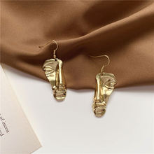 Exaggerated personality abstract face design drop earrings for