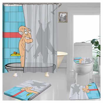 Lovely Bathing Dinosaur Print Shower Curtain Waterproof Bathroom Curtain bathroom shower accessories Decor bath curtain180x180cm