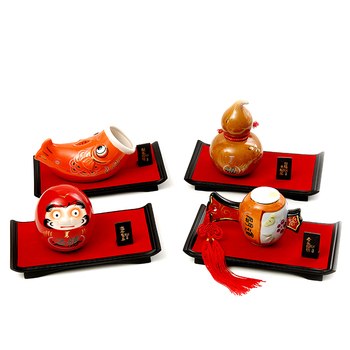 Japanese ceramic instrument lucky cat auspicious decoration office table feng shui crafts home decorations decoration gifts