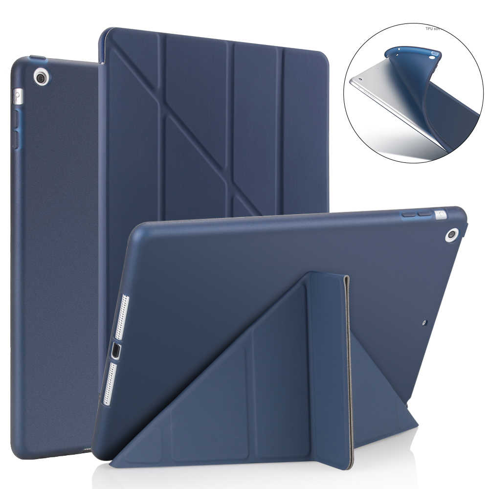 Voor Ipad Air 2 /Air 1 Smart Case 5 Vormen Stand Dunne Pu Lederen Cover Soft Case Voor Ipad 9.7 2017/2018 5/6 Th Auto Sleep/Wake Up