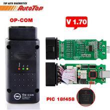OBD2 OP-COM V1.70 OPCOM для автомобиля opel диагностический сканер с реальными PIC18f458 для инструмента диагностики Opel OP COM flash прошивки