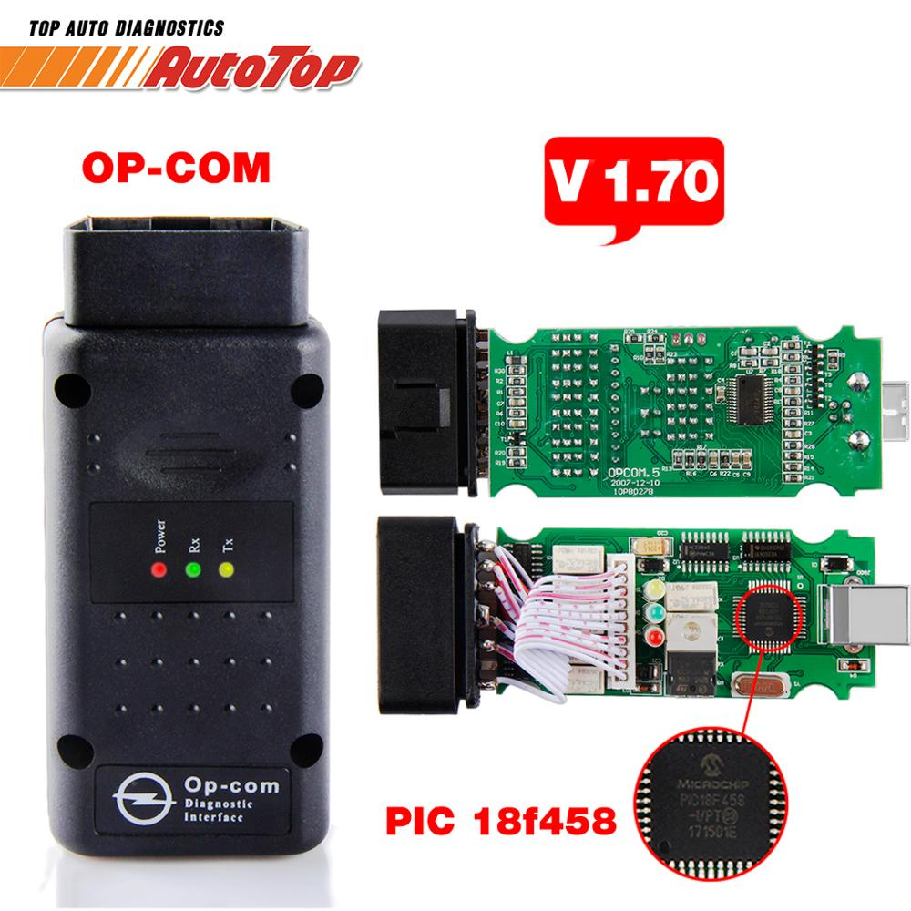 2019 op com para opel v1.70 obd2 OP-COM scanner de diagnóstico do carro real pic18f458 opcom para opel carro ferramenta diagnóstico flash firmware