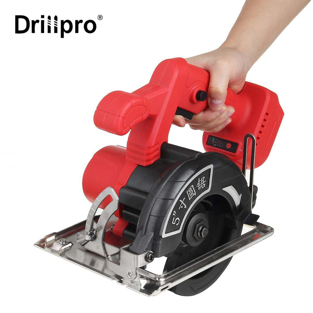 10800RPM Electric Circular Saw 0     to 45     Adjustable Power Tools Multifunction Cutting Machine For Makita 18V Battery 125mm