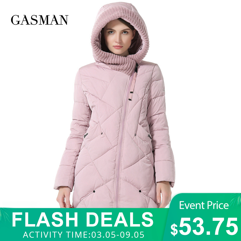 GASMAN 2019 Winter Collection Brand Fashion Thick Women Winter Bio Down Jackets Hooded Women Parkas Coats Plus Size 5XL 6XL 1702|womens parka coats|down parka coatparka coat - AliExpress