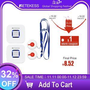 Image 1 - Retekess, беспроводная система помощи для ухода за ребенком, пейджер, медсестра, оповещение о вызовах, система помощи для ухода за домом/система оповещения, кнопка вызова/приемник