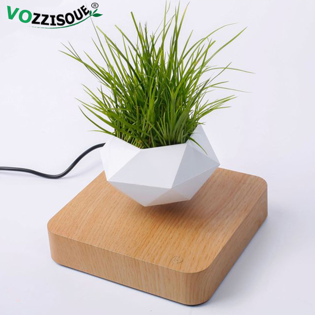 Hot Sale Levitating Air Bonsai Pot Rotation Planters Magnetic Levitation Suspension Flower Floating Pot Potted Plant Desk Decor 2