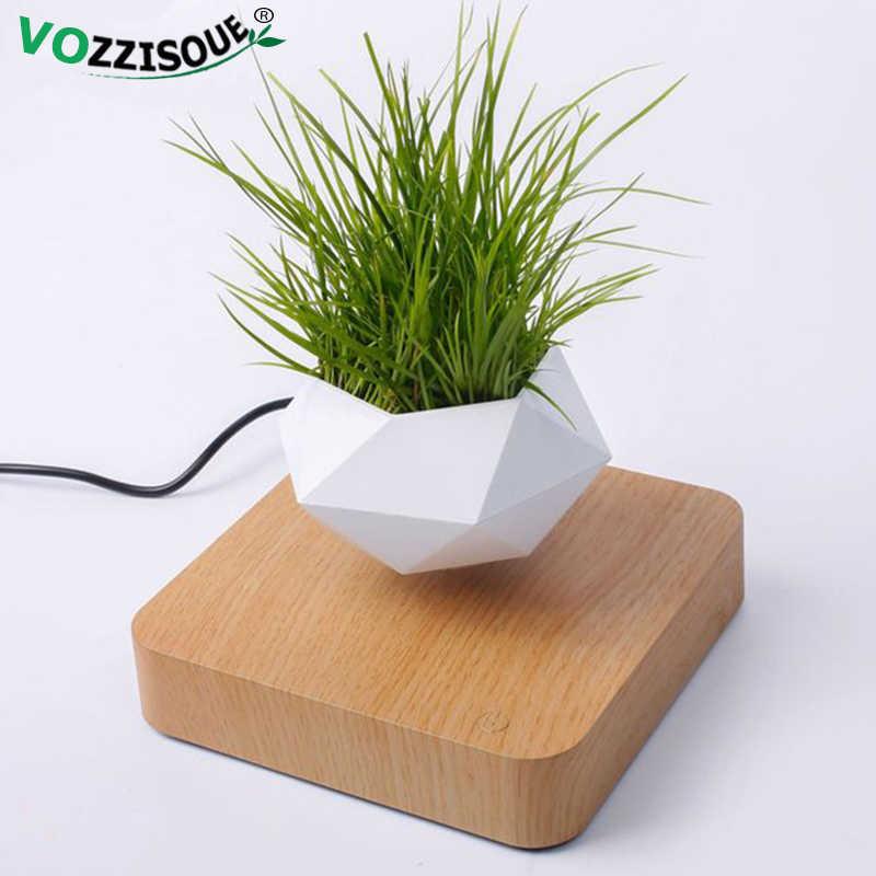 Vaso de ar para bonsai, planadores de rotação, suspensão magnética, flor flutuante, decoração em vaso para plantas