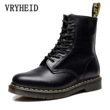 VRYHEID Hot Brand Men Boots Genuine Leather Winter Autumn Shoes Motorcycle Mens Ankle Boots Couple Oxfords Shoes Big Size 35-48