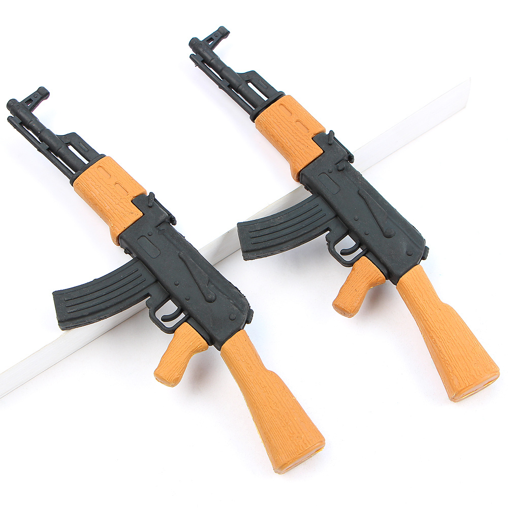 1Pcs Imulation AK47 Gun Pencil Eraser Boys Creative Personalized School Stationery Detachable EraserKids Cute Toy Gift Supplies