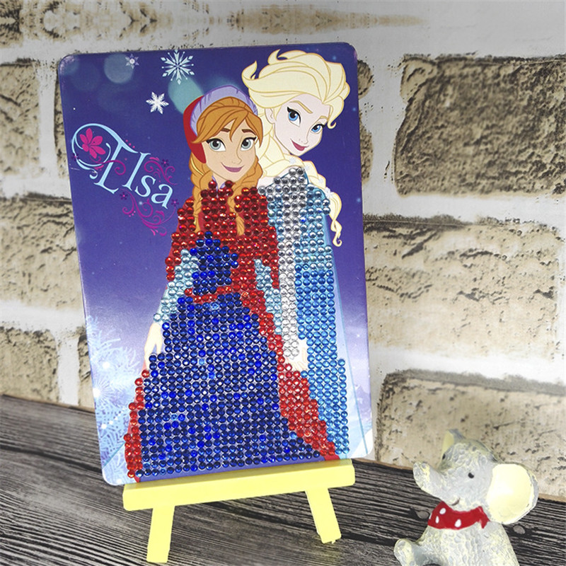 5D Diamond Painting DIY Creative Craft Toys Rhinestone Mosaic Funny Elsa Princess Puzzle Educational Toys For Children SG4